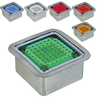 ソーラーLEDタイル100 ステンレスケース正方形タイプ買取